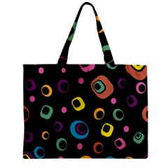 Abstract Background Retro 60s 70s Zipper Mini Tote Bag by Celenk