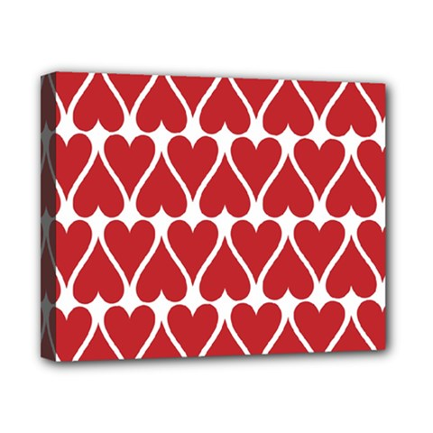 Hearts Pattern Seamless Red Love Canvas 10  X 8  by Celenk