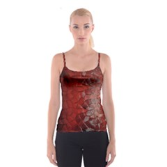 Pattern Backgrounds Abstract Red Spaghetti Strap Top
