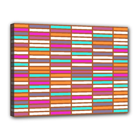 Color Grid 02 Canvas 16  X 12  by jumpercat