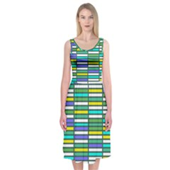 Color Grid 03 Midi Sleeveless Dress by jumpercat