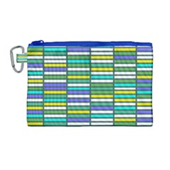 Color Grid 03 Canvas Cosmetic Bag (large) by jumpercat