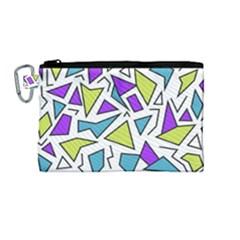 Retro Shapes 02 Canvas Cosmetic Bag (medium) by jumpercat