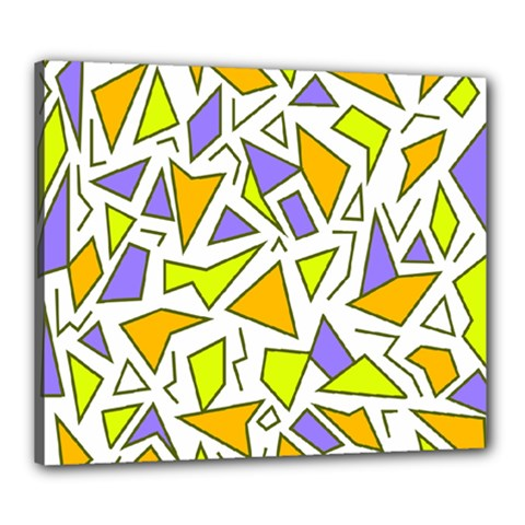 Retro Shapes 04 Canvas 24  X 20  by jumpercat