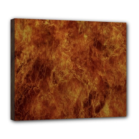 Abstract Flames Fire Hot Deluxe Canvas 24  X 20   by Celenk