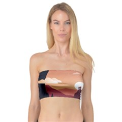 Design Art Hill Hut Landscape Bandeau Top