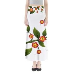 Flower Branch Nature Leaves Plant Full Length Maxi Skirt by Celenk