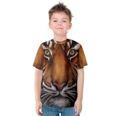 The Tiger Face Kids  Cotton Tee