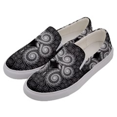 Fractal Filigree Lace Vintage Men s Canvas Slip Ons by Celenk