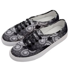 Fractal Filigree Lace Vintage Women s Classic Low Top Sneakers by Celenk