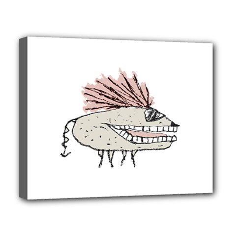 Monster Rat Hand Draw Illustration Deluxe Canvas 20  X 16   by dflcprints