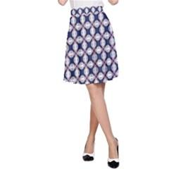 Kaleidoscope Tiles A Line Skirt by jumpercat