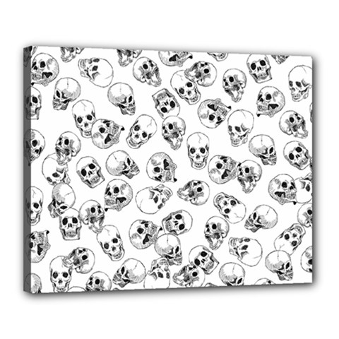 A Lot Of Skulls White Canvas 20  X 16  by jumpercat