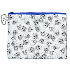 A Lot Of Skulls White Canvas Cosmetic Bag (xxl)