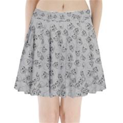 A Lot Of Skulls Grey Pleated Mini Skirt by jumpercat