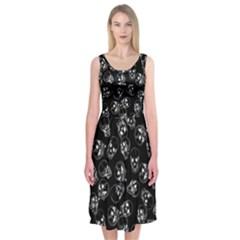 A Lot Of Skulls Black Midi Sleeveless Dress by jumpercat