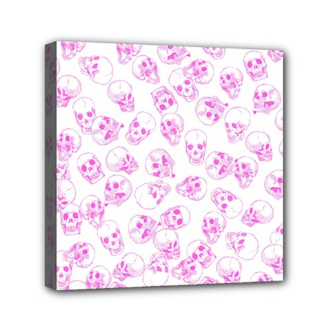 A Lot Of Skulls Pink Canvas Travel Bag by jumpercat