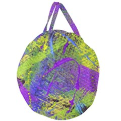 Ink Splash 02 Giant Round Zipper Tote by jumpercat