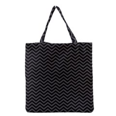 Dark Chevron Grocery Tote Bag by jumpercat