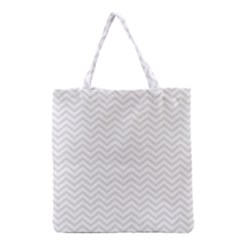 Light Chevron Grocery Tote Bag by jumpercat