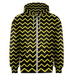 Yellow Chevron Men s Zipper Hoodie by jumpercat