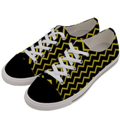 Yellow Chevron Women s Low Top Canvas Sneakers by jumpercat