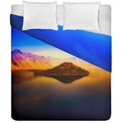 Crater Lake Oregon Mountains Duvet Cover Double Side (california King Size)
