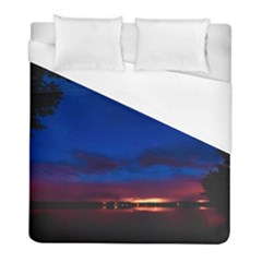 Canada Lake Night Evening Stars Duvet Cover (full/ Double Size) by BangZart