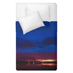 Canada Lake Night Evening Stars Duvet Cover Double Side (single Size) by BangZart
