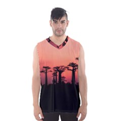 Baobabs Trees Silhouette Landscape Men s Basketball Tank Top