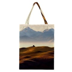 Landscape Mountains Nature Outdoors Classic Tote Bag by BangZart
