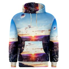 Iceland Landscape Mountains Stream Men s Pullover Hoodie