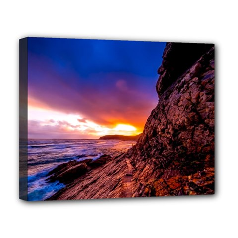 South Africa Sea Ocean Hdr Sky Deluxe Canvas 20  X 16   by BangZart