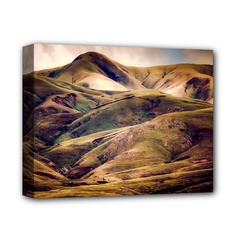 Iceland Mountains Sky Clouds Deluxe Canvas 14  X 11