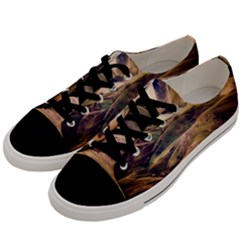 Iceland Mountains Sky Clouds Men s Low Top Canvas Sneakers by BangZart