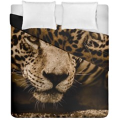 Jaguar Water Stalking Eyes Duvet Cover Double Side (california King Size)