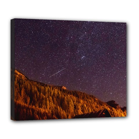Italy Cabin Stars Milky Way Night Deluxe Canvas 24  X 20   by BangZart