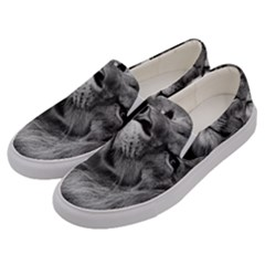 Feline Lion Tawny African Zoo Men s Canvas Slip Ons by BangZart