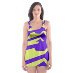 Polynoise Vibrant Royal Skater Dress Swimsuit by jumpercat