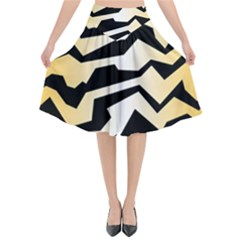 Polynoise Tiger Flared Midi Skirt