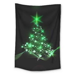 Christmas Tree Background Large Tapestry