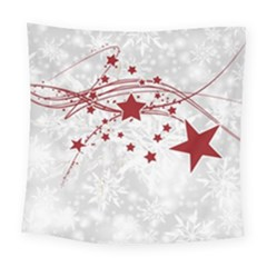 Christmas Star Snowflake Square Tapestry (large) by BangZart