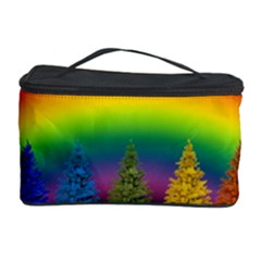 Christmas Colorful Rainbow Colors Cosmetic Storage Case by BangZart