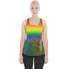 Christmas Colorful Rainbow Colors Piece Up Tank Top