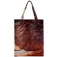 Feather Chicken Close Up Red Zipper Classic Tote Bag