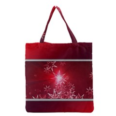 Christmas Candles Christmas Card Grocery Tote Bag by BangZart