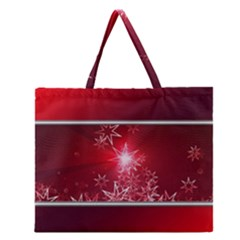 Christmas Candles Christmas Card Zipper Large Tote Bag by BangZart