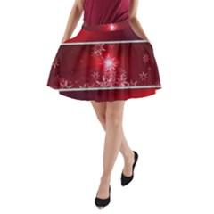 Christmas Candles Christmas Card A Line Pocket Skirt by BangZart