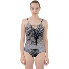 Snow Snowfall New Year S Day Cut Out Top Tankini Set by BangZart