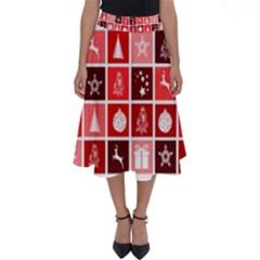 Christmas Map Innovative Modern Perfect Length Midi Skirt by BangZart